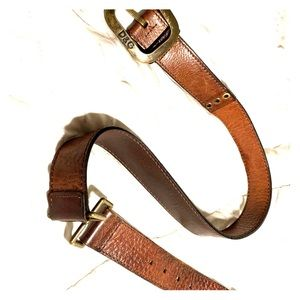 D&G brown leather belt